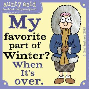 Aunty Acid - Week 14-2015 - Winter voorbij