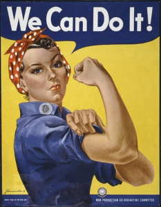 """""""Rosie the Riveter"""" """"We Can Do It"""" 179-WP-1563 WWII Poster"""