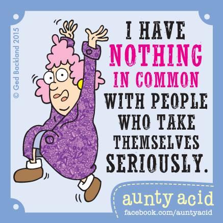 Week 15 - Aunty Acid - serieuze mensen