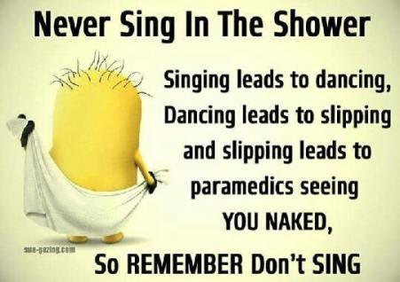 Niet zingen in de douche