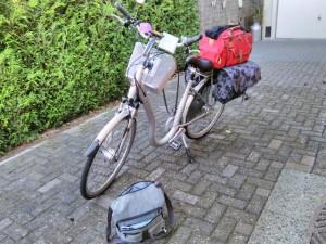 Volgepakte fiets