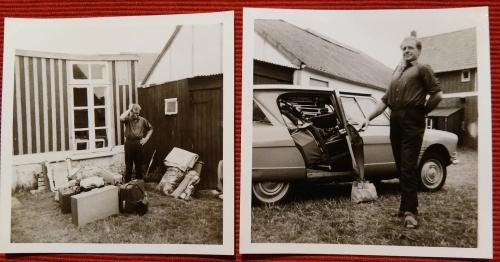 Vak 1968 auto ingepakt
