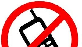 geen telefoons