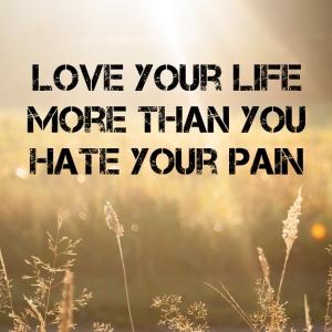 Pijn toch houden van het leven