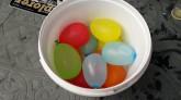 Wegjagen met kleine watergevulde ballonnetjes